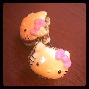 Jewelry - 🌼3 for $12🌼 🍔Hello Kitty hamburger🍔 earrings!